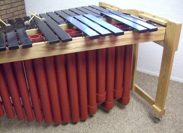 Black bars on DIY marimba