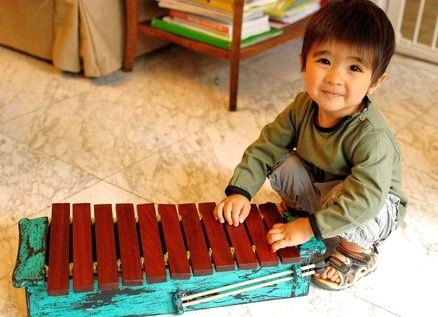 DIY Xylophone gift for child