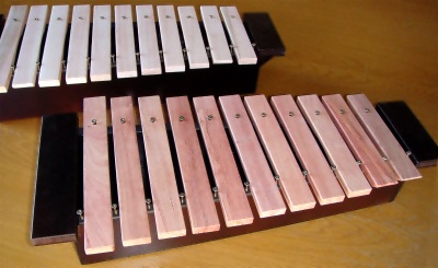 Box resonated DIY xylophones constructed using the P1 xylophone building guide